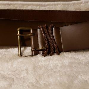 Talbots XL Brown Leather Belt